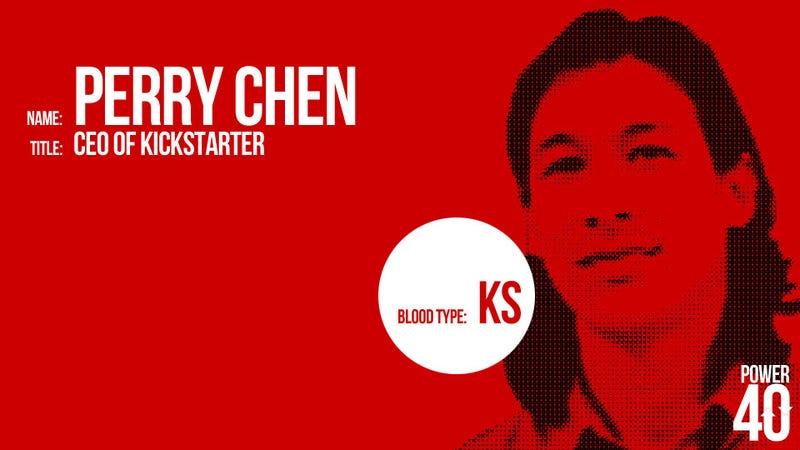 ↓ 37. Perry Chen, CEO of Kickstarter