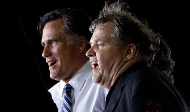 Meat Loaf Butchers 'America the Beautiful' as Mitt Romney Watches On