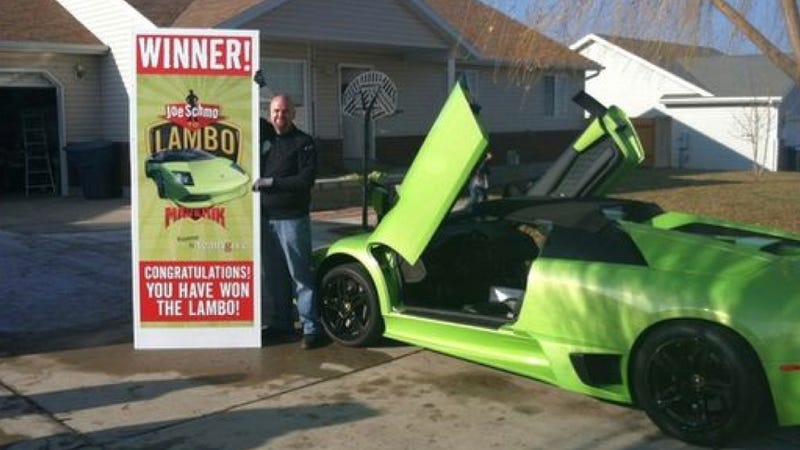 Did a man intentionally wreck this Lamborghini six hours after he won it?