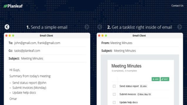 Planleaf Creates Collaborative Task Lists in Emails, No Signup Needed