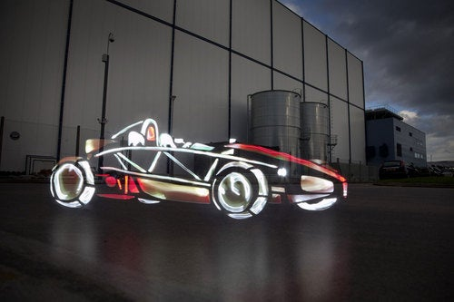 Light Graffiti Artists Tag 458 Italia, SSC Aero II, Ariel Atom