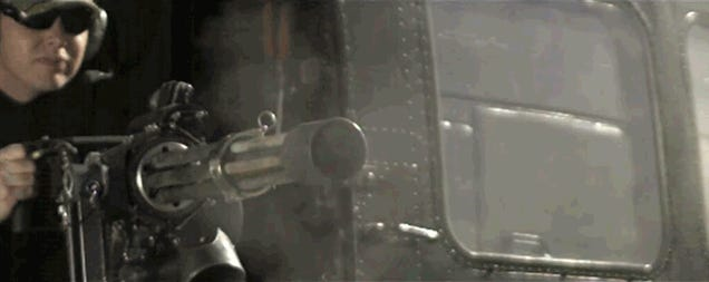 Amazing video of a six-barreled Minigun firing in super-slow motion