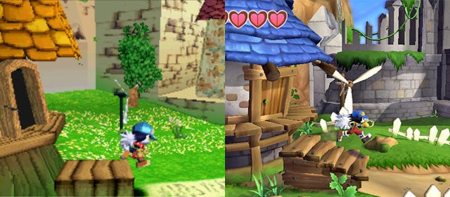 Klonoa: Door To Phantomile: Wii vs. PSone Graphics Battle