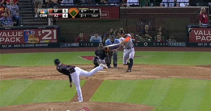 Hunter Pence And His Goofy Swing Crush A Ball Into The Upper Deck