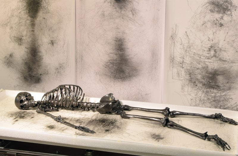 This Life-Sized Skeleton Pencil Will Rattle Itself Out of Existence