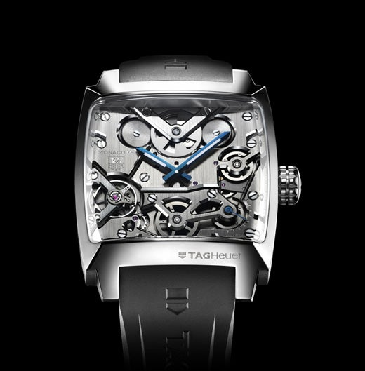 Tag Heuer Monaco V4: Watch Changes Wheels and Pinions for Piston and Belt Transmissions