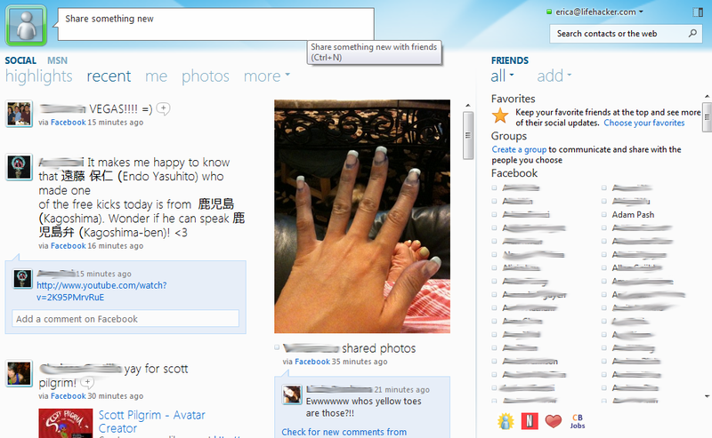 First Look at Windows Live Essentials Beta's New Social Features