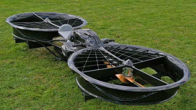 This homemade hoverbike is a real life Star Wars speeder