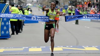Kenyan Woman Wins Boston Marathon Before West Coast Puts On Pants