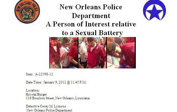 New Orleans Police Are Officially Looking For The Teabagger
