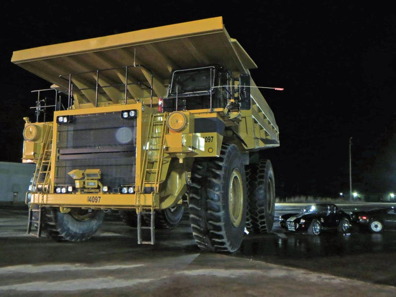 Somebody Seriously Drifted One Of Those 200 Ton Mining Dump Trucks