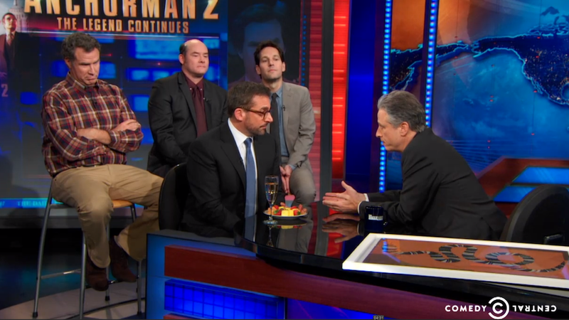 The Daily Show's Delightful Anchorman Interview Gets Violent