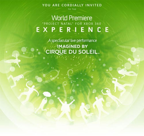 "Project Natal ""World Premiere"" To Be Complete Media Cirque Du Soleil"