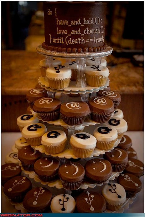 """Just Say """"I Boo"""" (-lean) For These Coders' Wedding Cake"""