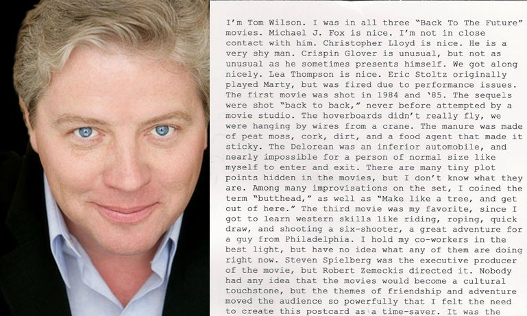 Biff Tannen Has a Business Card that Answers All Your Annoying Questions About Back to the Future