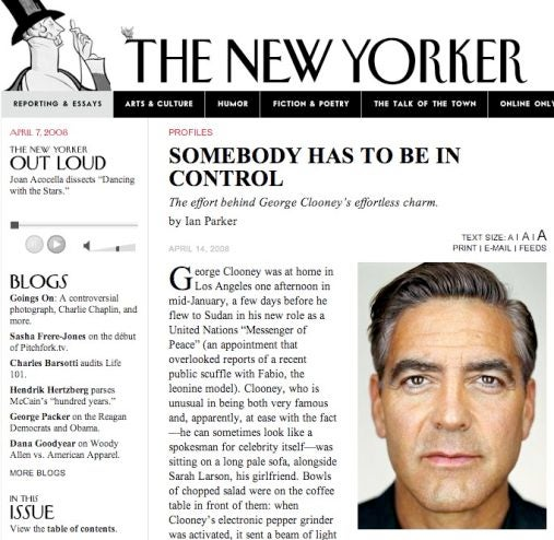 Clooney Wastes a 'New Yorker' Profile on 'Leatherheads'