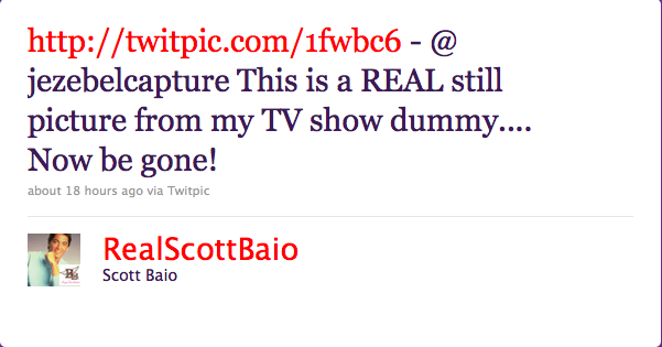 Scott Baio Vs. Jezebel, Day 2 (Plus Pictures!)
