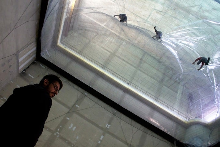 This fantastic new art installation allows visitors to walk on air. Literally.