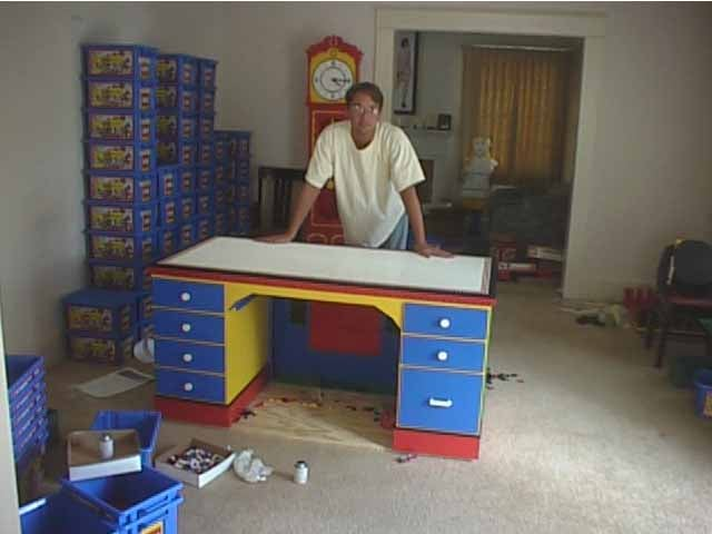 Desk Made Entirely Out of LEGO