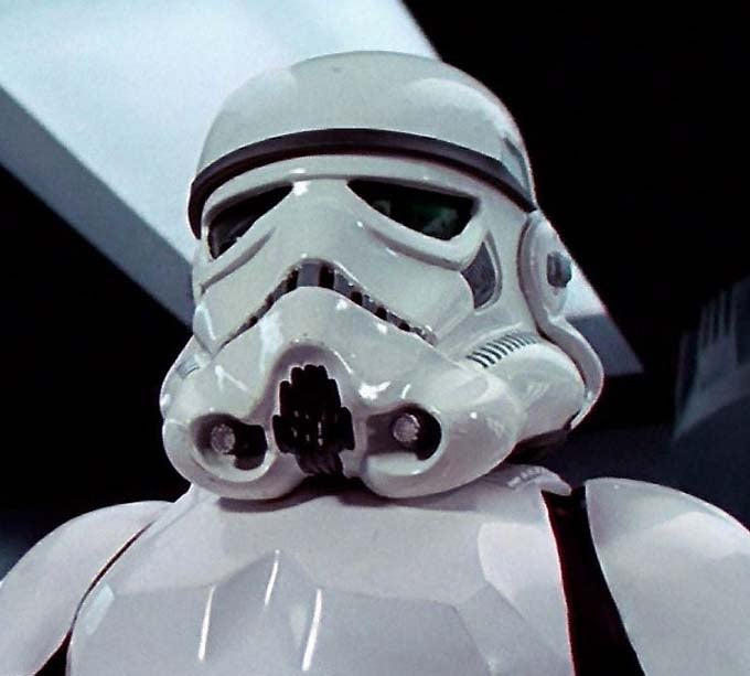 The new stormtrooper helmets for Star Wars Episode VII