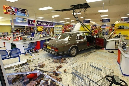 Crash Your Rolls Into A Supermarket, Get 16 Months In Jail