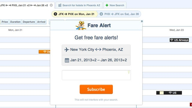 Hipmunk Adds Free Fare Alerts to Its Flight Search