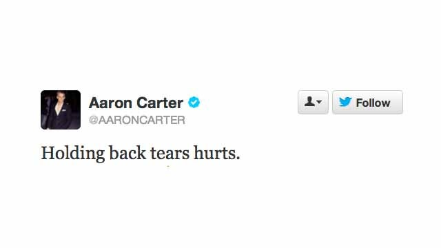 Aaron Carter's Not Doing So Good, Guys