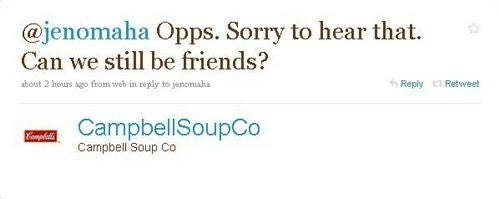 The Low-Calorie Soup War: Campbell's Defends Its Honor On Twitter