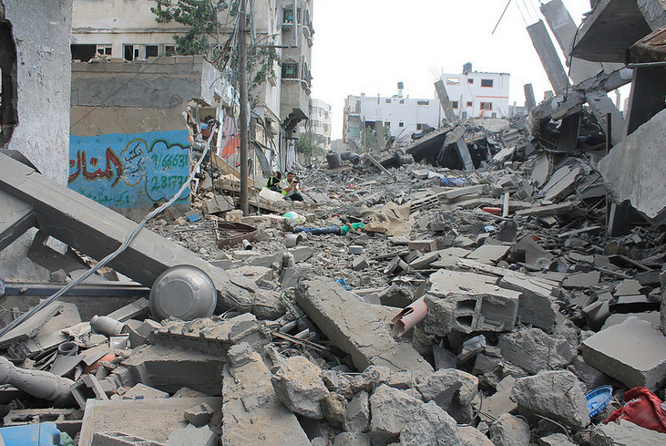 Graphic Video Shows Sniper Shooting a Relief Worker on a Gaza Street