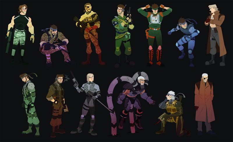 The Metal Gear Solid Cast As Cartoon Characters