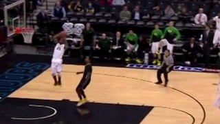 Elgin Cook Rises Up For A Huge Dunk, Suddenly Loses All Muscle Control
