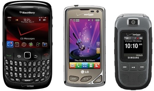 LG Chocolate Touch, BlackBerry Curve 8530, and Samsung Convoy: Verizon's Second-String Lineup