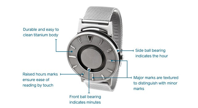 This Stylish Watch Lets Blind People Feel Time