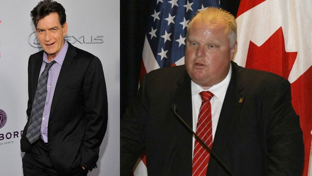 Charlie Sheen Falls for Fake Story, Writes Bizarre Poem to Rob Ford