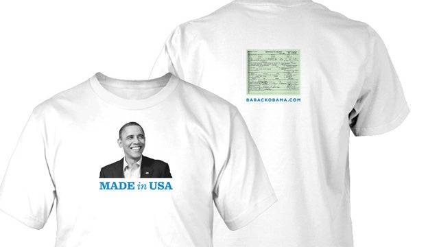 Obama Campaign Selling Official Birth Certificate Shirts
