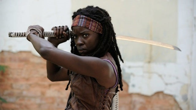 We've seen Walking Dead's Michonne and the Governor in action!