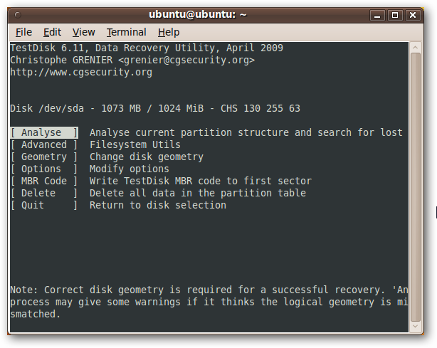 Recover Data Like a Forensics Expert Using an Ubuntu Live CD