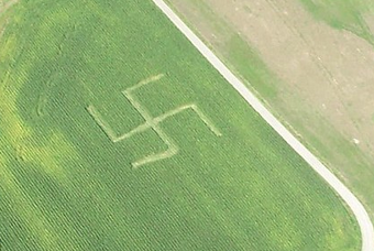 Swastika Crop Circle Is World's Worst Corn Maze