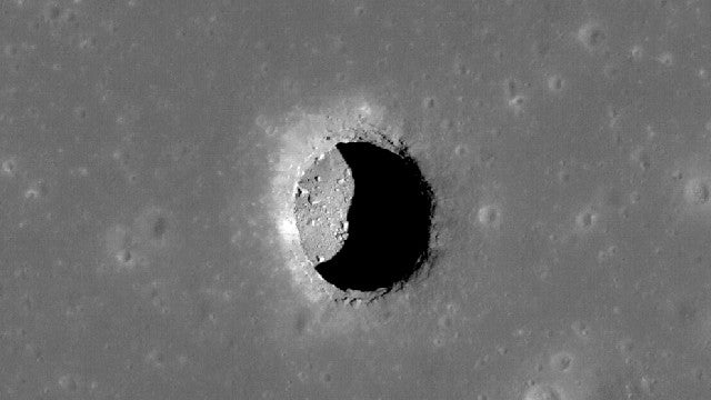 Could This Lunar Cave Provide Shelter for a Future Moon Colony?