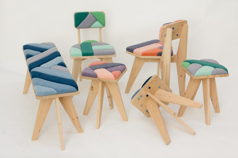 A Wind-Powered Factory That Makes Chairs, Scarves, and Pillows