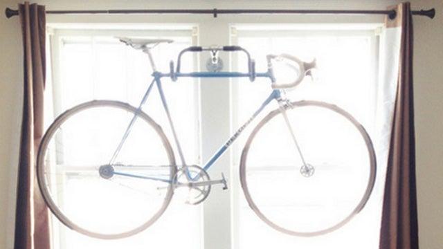 Repurpose Bicycle Handlebars Into a Fun Indoor Bike Rack