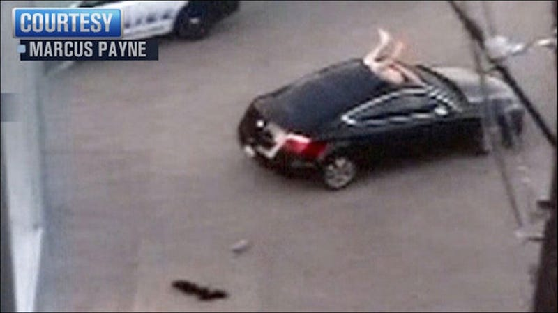 Naked Man Dives Through Open Sunroof, Attacks Driver