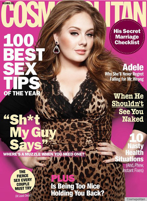 Did A Grocery Store Conceal Adele's Cosmo Cleavage?