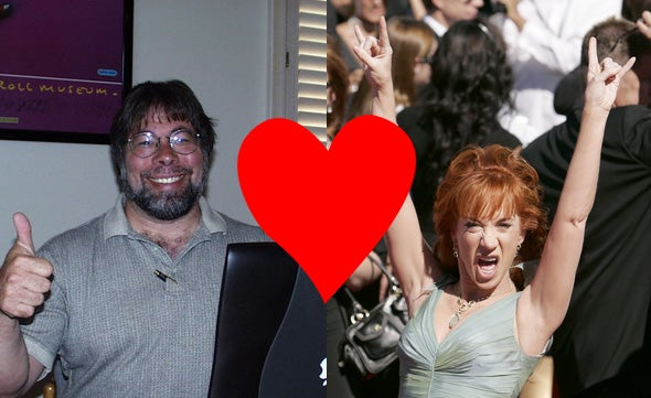 Woz and Kathy Griffin Sitting in a Tree