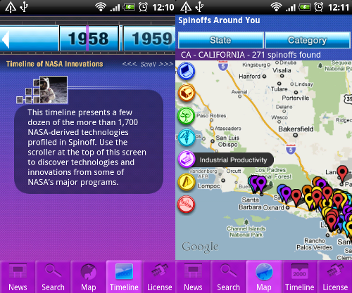 NASA Discovers Android—Brings NASA Spinoff App to Google Phones