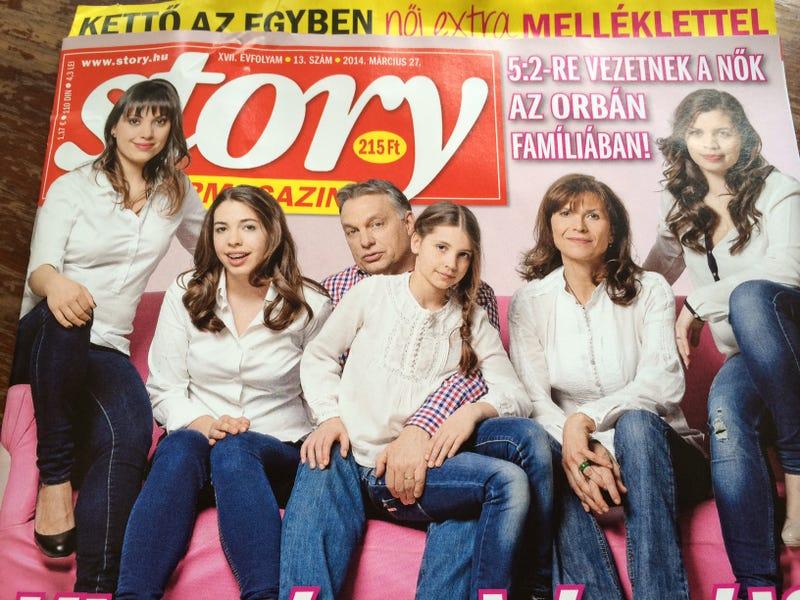 Orbán Viktornak a felesége kivasalja a Nemzeti Sportot reggelire