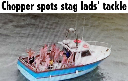 Brit Tabloids Get Excited Over a Bunch of Naked Dudes on a Boat