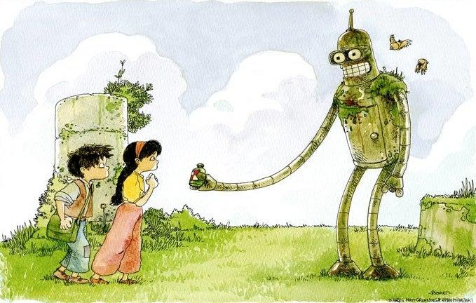 Bender's Delivery Service: If Hayao Miyazaki reimagined Futurama