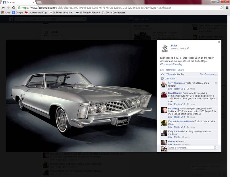 Buick's latest Facebook FAIL