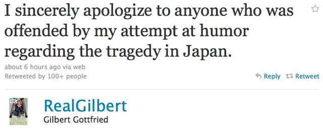 Gilbert Gottfried Apologizes For Japanese Tsunami Joke